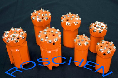 GT 60 Retract Ballistic Button Bits T45 89 mm For Top Hammer Drilling