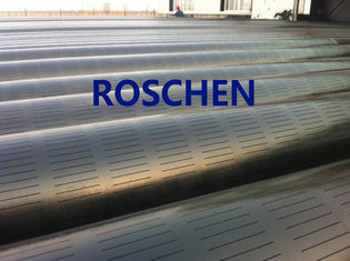 Slotted Pipe , Carbon Steel Tube , Oil Screen Tube Control Sand Coring Drilling