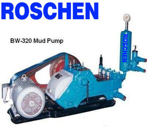 30kw Single Acting Triplex Plunger Stroke 110mm Drilling Rig Mud Pumps for mining