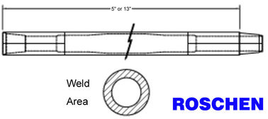 "Heavy Duty Drill Rod 3 - 1/2"" Friction Welded with Advanced 4140 Grade Materials"
